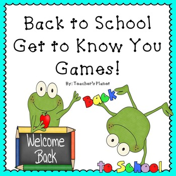 Back to School Get to Know You Games!