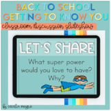 Back to School Get to Know You Icebreakers Classroom Discu