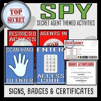 Back to School Get to Know You- Secret Agent Activities