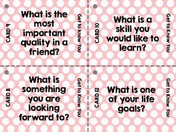 Task Cards - Back to School: Get to Know You