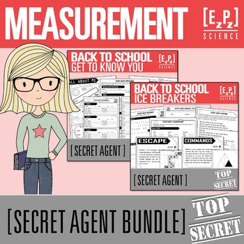 Back to School Get to Know You and Ice Breakers Secret Agent Bundle