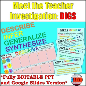 Back to School Get to Know the Teacher ( Middle & High School )