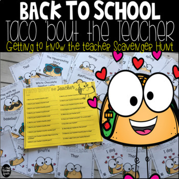 Editable Back to School Get to Know the Teacher Scavenger Hunt