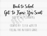 Back to School Get to know You Scoot