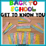 Back to School Get to know you