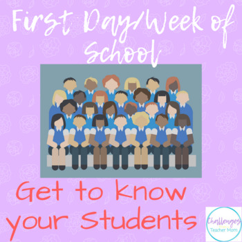 Back to School | Get to know your Students Page