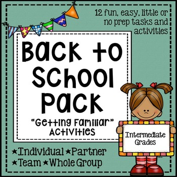 Back to School Activity Pack - Community Building