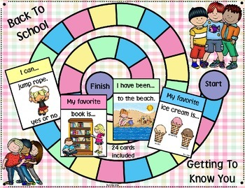 Back to School ~ Getting To Know You Game