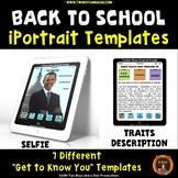 Back to School Character Traits Portraits