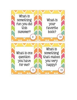 Back to School Getting to Know Students Scoot/ Task Cards