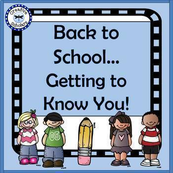 Back to School Getting to Know You!