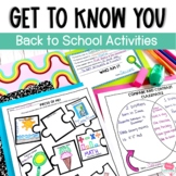 Back to School- Getting to Know You- 11 fun get to know yo