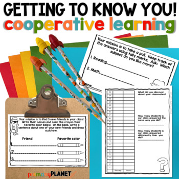 Back to School Activities: Getting to know You Cooperative learning