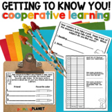 Back to  School Getting to know you cooperative learning a