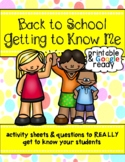 Back to School: Getting to Know You