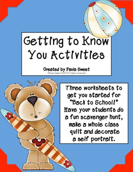 """Back to School """"Getting to Know You"""" Activities"""