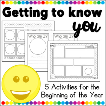 Back to School - Getting to Know You Activities