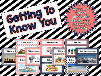 Back to School: Getting to Know You Activity