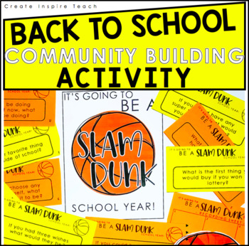Back to School - Getting to Know You Activity | Slam Dunk School Year!