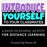 Back to School Getting-to-Know-You Activity for Distance Learning