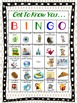 Back to School- Getting to Know You Bingo