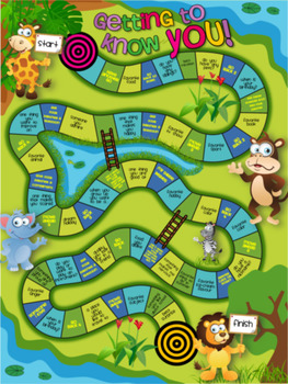 Back to School - Getting to Know You - Board Game