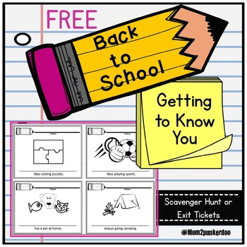Back to School Getting to Know You Scavenger Hunt (editable)