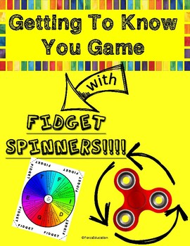 Back to School Getting to Know You Fidget Spinner Game