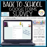Back to School, Getting to Know You Google Survey