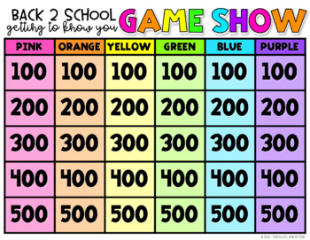Back to School Getting to Know You Icebreaker COLOR! Jenga Game Task Cards