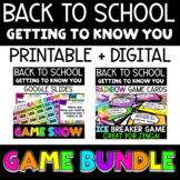 Back to School - Getting to Know You - Icebreaker Games BUNDLE