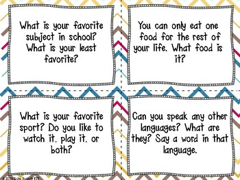 Back to School Getting to Know You Quiz-Quiz-Trade Cards