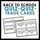 Back to School Quiz Quiz Trade Cards {Set of 32}