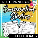 FREE Speech Therapy Conversation Starter Cards