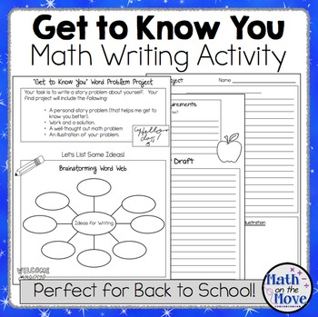 Back to School - Getting to Know You - Math Writing Activity