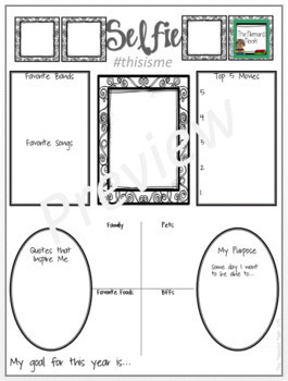 All About Me Poster- Upper Grades