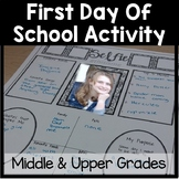 All About Me Poster and First Day of School Activity