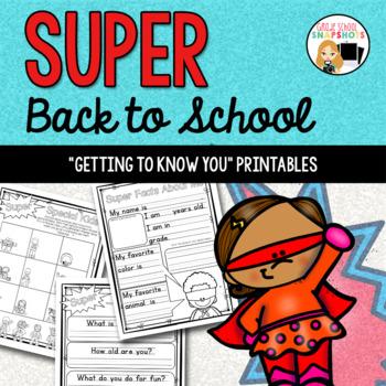 Back to School Superhero Printables