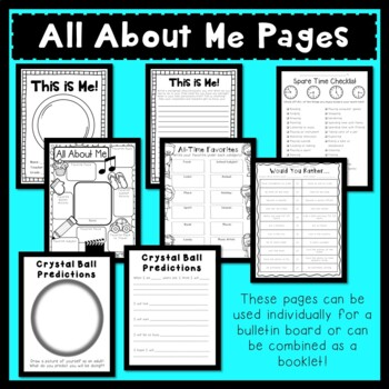 Back to School- Getting to Know You Printables