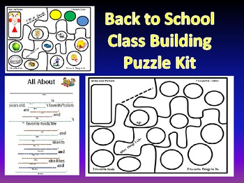 Back to School-Getting to Know You-Puzzle Kit + Writing Activity Pack