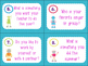 Back to School Getting to Know You Robot Theme Task Cards