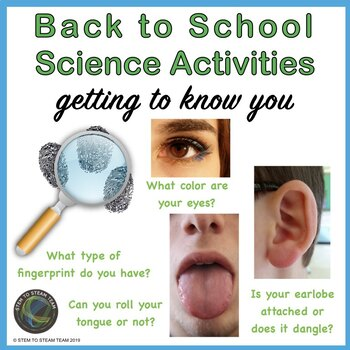 Back to School Getting to Know You Science lesson