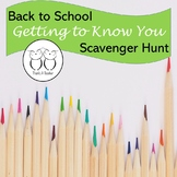 Back to School Getting to Know You Scavenger Hunt Upper Grade No Prep