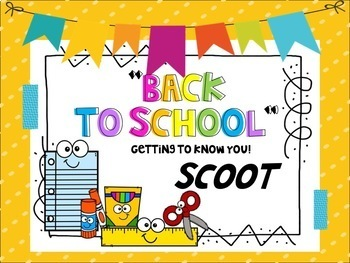 Back to School / Getting to Know You Scoot!