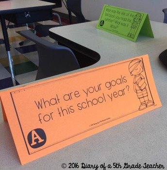 Back to School:  Getting to Know You Table Top Talk