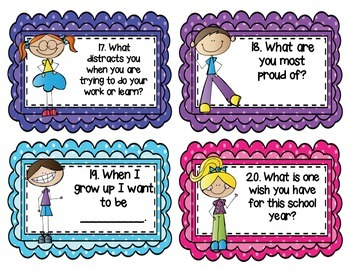 Back to School - Getting to Know You Task Cards