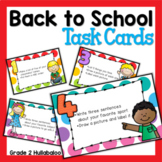 Back to School - Writing Task Cards