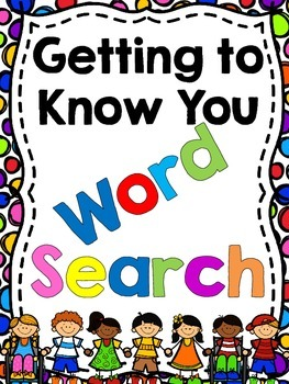 Back to School Getting to Know You Word Search