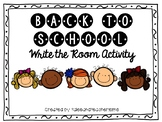 Back to School Getting to Know You Write the Room Activity