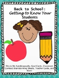Back to School: Getting to Know Your Middle-Upper Grade Students